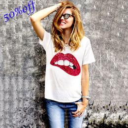 Labios online-Star Street acaricia el mismo tipo de labios, cuentas hechas a mano, camisetas de algodón puro.