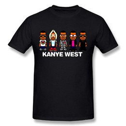 Wholesale Cool Shirts Boys - Kanye West Cool Five Boys Cartoon Pritned Art T-Shirt 2017 new High Quality 100% Cotton men's T Shirt cheap sell Free shipping