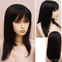 "Wholesale Maysu Hair - MAYSU 100% Hand-Made Silk Wig In Brazil Is Full Of My Shoelaces Human Hair Wigs 5.5 ""x 5.5"" Black Silk Weaving Wig Senior FULL LACE WIGS"