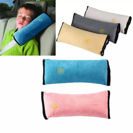 Wholesale Yellow Seat Covers - Baby Children Car Auto Safety Seat Belt Soft Harness Shoulder Pad Cover Children Protection Covers Cushion Support Pillow Seat Cushions