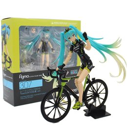 Wholesale Big Boy Bicycles - Demishop Japanese Anime Figure MaxFactory Figma #307 Bicycle Hatsune Miku Action Figure Collectible Model Toys For Boys