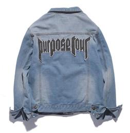 Wholesale Gold Denim Jacket - Purpose Tour Jacket Men Justin Bieber FOG World Tour mens jackets and coats military Jeans denim jacket Outwear chaqueta hombre