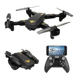 Wholesale Arm Wifi - VISUO XS809W WIFI FPV Foldable Arm FPV Quadcopter With 2MP 0.3MP HD Camera 6Axis Headless RC Drone Toys RTF VS JJRC H37 H31 E50