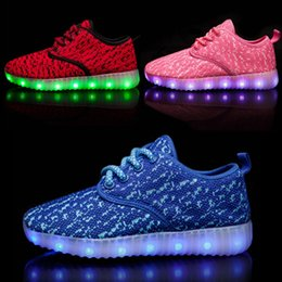 Wholesale Boys Party Shoes - Fashion LED Light Shoes for Kids Boys Colorful Luminious Shoes USB Charging Party and Sport Casual Children Sneaker Wholesale