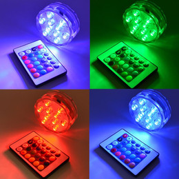 Wholesale Pond Tanks - RGB LED Underwater Light IP68 Waterproof LED Swimming Pool Light LED Pond Submersible Light for Wedding Party Piscina Fish Tank