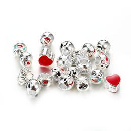Wholesale Animal Smile - New Smile Enamel Emoji Bracelets for kids Love Heart Beads Charms Bracelets & Bangles for Women DIY Jewelry DY82
