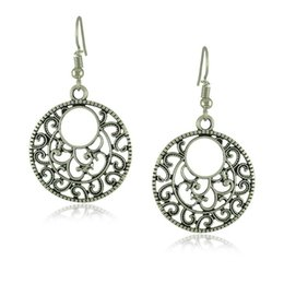 Wholesale Nepal Silver - Fashion wild possession of silver hollow carved flower star earrings famous family waves Simi Nepal Nepal earrings fashion accessories