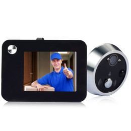 Wholesale Door Motion Viewer - Motion Detection Door Peephole Viewer 3.5 inch LCD Color Digital Doorbell Security Camera Support 8 Operation Languages