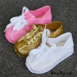 Wholesale Sneaker Mini - Mini Melissa 2017 New Girl Sports Shoes Breathable Sneakers mini Melissa Children Shoes Boy Girl Sneakers Fashion Melissa Shoes.