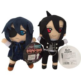 Wholesale Black Butler Ciel Toy - Black Butler plush toys Phantomhive Kuroshitsuji Ciel and Sebastian figure soft Stuffed Dolls cosplay kawaii cute toys kids gift