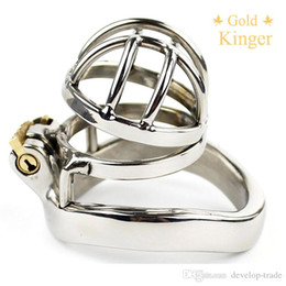 Wholesale Male Metal Chastity Device Catheter - Stainless Steel Super Small Male Chastity Device Metal Chastity cage A273
