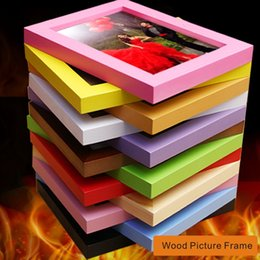 Wholesale Europe Photo Frame - 11x14 Various Sizes A Variety Of Colors Wooden Picture Frame, Desktop Display Or Wall Installation, Display A Variety Of Photos Or Pictures.
