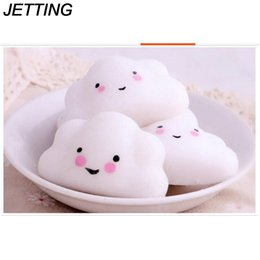 Wholesale Toy Jets - JETTING Ushihito Kawaii Cute Squishy Mini Small Cloud Soft squeeze Press Slow Rising Phone Strap Bread Cake Kid Toy Hobbie Gift