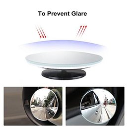 """Wholesale Small Adjustable Mirrors - New (2pcs, 2"""") Rimless Blind Spot Mirror Kit 360 Degree Universal Adjustable Safety Convex Side Small mirrors"""