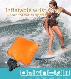 Surfende armbänder online-Anti Ertrinken Armband Schwimmen Surf Outdoor Wasser Handgelenk Selbstrettung Float Armband Mit Co2-zylinder Lebensrettende Armband CCA6681 20 stücke