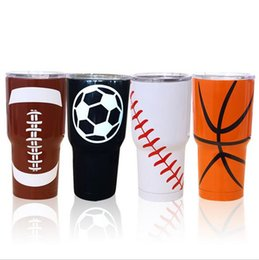 Wholesale Double Wall Beer - 2017 30oz Stainless Steel Tumblers Bilayer Insulation Car Travel Vehicle Double Wall Bilayer Vacuum Insulated Beer Mugs 900ml