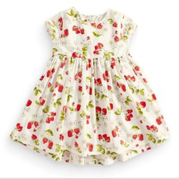 Wholesale Wholesale Floral Baby Dresses - Girl Dress Baby girls floral dress summer children clothing girl cotton dress 32 styles for choosing for 1~6 Y