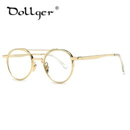 Wholesale art framed mirrored frames - Wholesale- Dollger Glasses frame 2017 new plain mirror women art youth glasses flat mirror high quality fashion models s1294