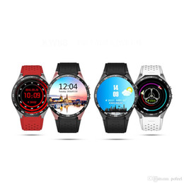 Wholesale Used Kids Quad - Kingwear KW88 Android 5.1 OS MTK6580 Quad Core Smart Watch Phone 1.39 Inch 400*400 Smartwatch Support 3G WCDMA Nano SIM Wifi