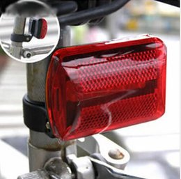 Wholesale Cycle Bulbs - Wholesale- Waterproof Bike Bicycle 5 LED Rear Tail Light Lamp Bulb Red Back Cycling Safety Warning Flashing Lights Reflector Accessories