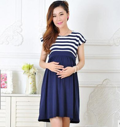 Wholesale Dresses For Pregnant Long Sleeve - 2017 New Women Long Dresses Maternity Nursing skirt for Pregnant Women Breastfeeding Women's Clothing Mother Home Clothes L XL