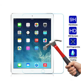 Wholesale Apple Ipad Lcd Screen - Tempered Glass Screen Protector For iPad mini 2 3 4 Air Air 2 Shockproof Toughened 9H Real Glass LCD Tablet Film Clear Cover