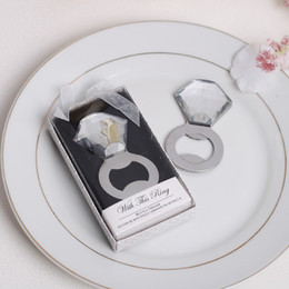 Wholesale Married Rings - Creative bottle opener married gift The wedding ring bottle opener the diamond ring bottle opener Presents for guests S201767
