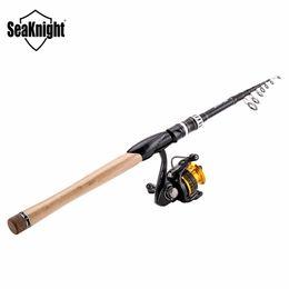 venta al por mayor de hilado Rebajas Al por mayor- SeaKnight Cañas de pescar Carretes Combo 11 + 1BB Carrete de hilado TREANT 2000/3000 5.2: 1 Rueda de pesca + 2.1 / 2.4M Sange Lure Spinning Rod