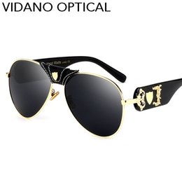 Wholesale Designer Optical Eyewear - Vidano Optical 2017 Latest Arrival Luxury Pilot Sunglasses For Men & Women Fashion Designer Sun Glasses Stylish High Quality UV400 Eyewear