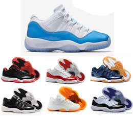 Wholesale Metallic Orange - 2017 DJ 11 women men basketball Shoes Low Metallic Gold Closing Ceremony Navy Gum Blue white red bred concord sports sneakers