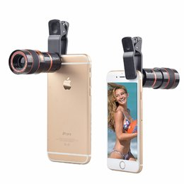 Wholesale Kinds Cell Phones - Universal 8x Optical Zoom Telescope Magnifier Cell Mobile Phone Camera Lens for all kinds of smartphone DHL free shipping