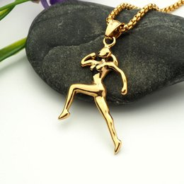 Wholesale Running Items - fashion vision stainless steel sport run pendant necklace hip hop necklaces with chain jewelry for men or women item number hps017
