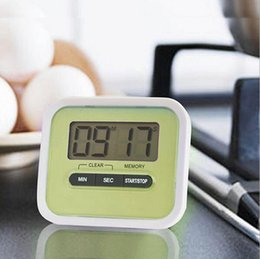Wholesale Digital Display Clock Countdown - LCD Digital Kitchen Countdown Timer Alarm Plastic Display Timer Clock Kitchen Timers Cooking Tools Accessories OOA2074