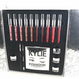 Wholesale Luminous Christmas - 2017 Newest Kylie Holiday big box makeup set lipstick eyeliner eyeshadow set kylie jenner New Christmas gift