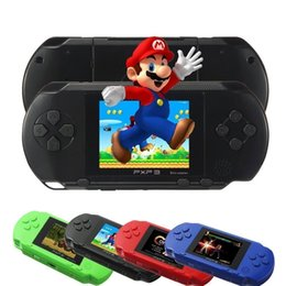 Wholesale 16 Bit Handheld Game Console - Wholesale- Handheld PXP3 Game Players Console Built-in 150 hot Games 16 Bit Retro TV-Out Video Game with 2 Games Cartridge for Kids Gadgets