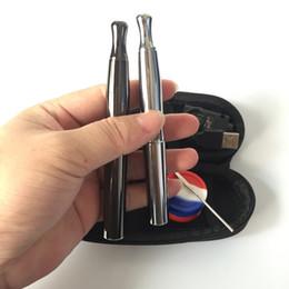 Wholesale Skillet Kit - 1pcs Skillet 2 Vaporizer Kit @Puffco pro Dual Quartz Rod Ceramic chamber Donut Coils Wax Dry herb atomizer herbal vapor pen e cigs