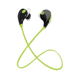 Wholesale Lg Bluetooth Headset Best Price - Best Price QY7 Wireless Sport Bluetooth 4.1 Stereo Headset Headphone Earphone With Mic Retail Box 5 Colors Free DHL Ship