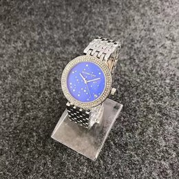 Wholesale Alloy Stock - 2017 NEW MK classic ladies luxury watches quartz diamond watches casual fashion watch In Stock Relogio Masculino.