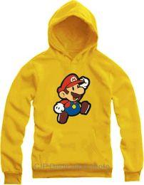 Wholesale Kids Mario Coat - Free shipping kids hoodies for children 70---150cm height  Super mario Hoodie clothing Fleece coat 9 color