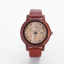 Wholesale Japanese Watches For Men - Wooden Watches for Men, Sandalwood Bamboo Watch Wood Case, Genuine Cowhide Leather Strap, Japanese Analog Quartz Movement