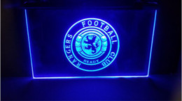 Wholesale red man sign - fby07 Glasgow Rangers Scotland Club Soccer Sport FC Neon Led Sign Gift man cave