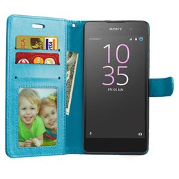 Wholesale E Pocket - For Sony Xperia E5 E 5 LTE F3311 F3313 Cover Flip PU Leather Cell Phone Case for Coque Sony E5 XperiaE5 F 3311 3313 Phone BagsPhone PU Cases