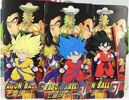 Wholesale Dragon Ball Bag - New 20 pcs Cartoon Japanese Anime Dragon Ball PVC Keychain Bag Pendant Children Gifts Y005