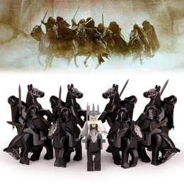 Wholesale Nine Years Old - 18pcs lot The Lord of The Rings Nine Nazgul with Horse Witch-king of Angmar Sauron's Servants Building Blocks Children Gift Toys