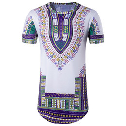 Wholesale Ethnic Clothes Men - Pop Hip Hop Tshirts For Men Street Style Ethnic Pattern T-Shirts Top Quality Brand Luxury Clothing Free Shipping