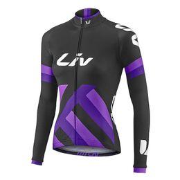 Wholesale Mountain Bike Long Sleeve - 2017 women's Mountain Racing Bike Cycling Clothing liv Cycling Jerseys Breathable Bicycle Ropa Ciclismo long Sleeve Sportswear D1109