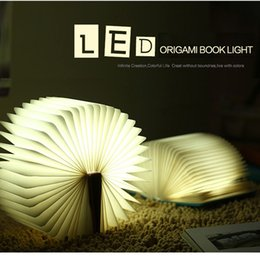 Wholesale Green Lighting Book - USB Rechargeable Folding LED Night Light Reading Book Light Desk Lamp Red Blue Green Warm White Light Table Lamps Bedside Lamps