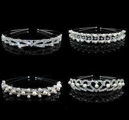 Wholesale Crown Bridesmaid Jewelry - HOT Sale Charm Wedding Bridal Bridesmaid Tiara Crown Headband Heart Flower Girls Love Crystal Rhinestone Party Jewelry b179