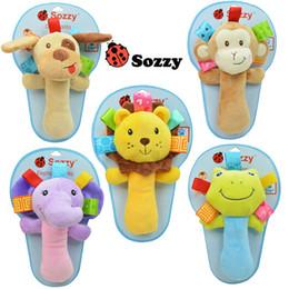 Canada Gros- 1 pcs Sozzy musical bébé hochets en peluche infantile bébé Jouets animaux en peluche jouets Bene Hochets mignon jouet pour bébé Offre