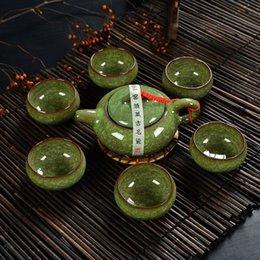 Wholesale Ceramics Designs - Ice crack glaze Chinese Traditional Tea Set, 1 Teapot With 6 Teacup, Elegant Design Tea Sets Service Tetera, Chaleira Bule,T001A